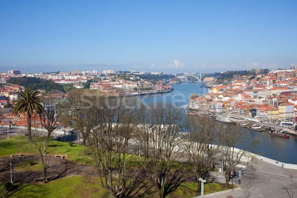 Jardim do Morro in Gaia and Porto Cityscape Stock photo © rognar