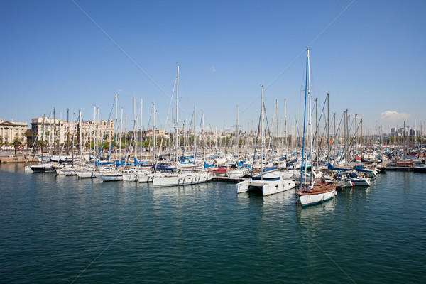 Port Vell Marina in Barcelona Stock photo © rognar