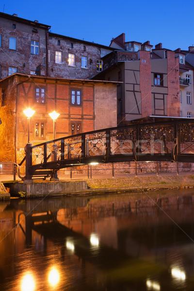 City of Bydgoszcz by Night in Poland Stock photo © rognar