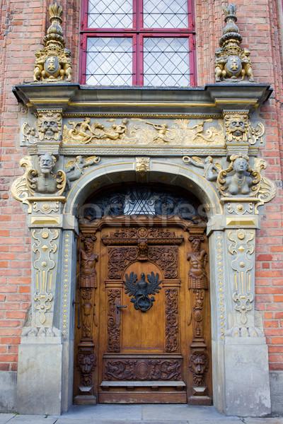 Ornate Door in Gdansk Stock photo © rognar