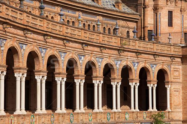 Plaza de Espana Colonnade in Seville Stock photo © rognar