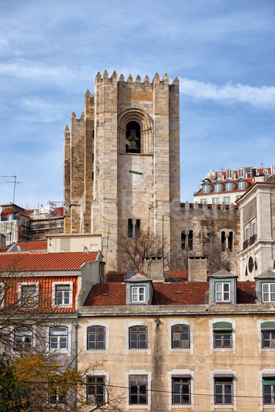 Tower of the Lisbon Cathedral Stock photo © rognar