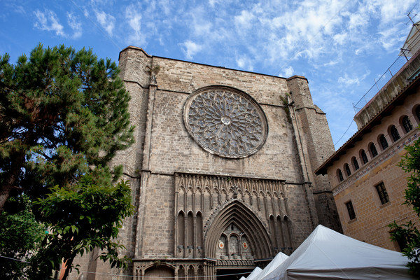 Basilica of Santa Maria del Pi in Barcelona Stock photo © rognar