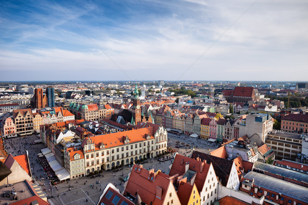 Stad oude binnenstad markt vierkante Polen gebouw Stockfoto © rognar