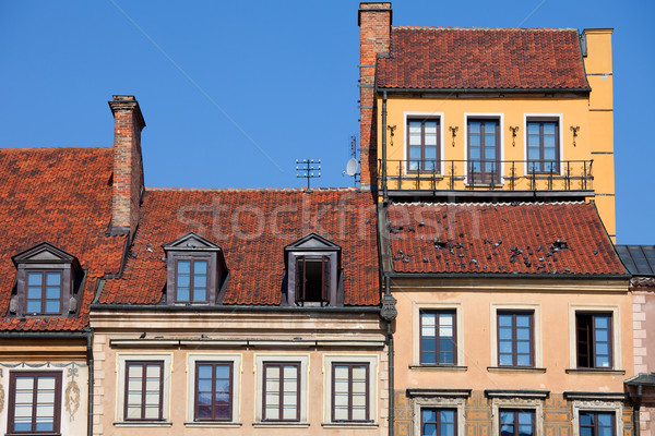 Old Town Houses in Warsaw Stock photo © rognar
