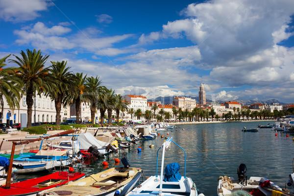 Хорватия живописный декораций порт дома Сток-фото © rognar