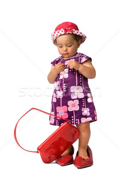 Fashion Baby Girl Posing Stock photo © rognar