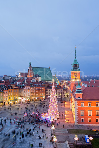 Old Town of Warsaw at Dusk Stock photo © rognar