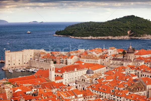 旧市街 ドゥブロブニク 島 海 クロアチア 市 ストックフォト © rognar