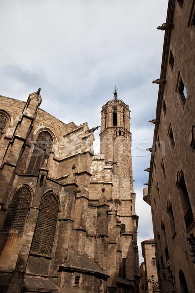 Gótikus építészet Barcelona katedrális vallás stílus Stock fotó © rognar