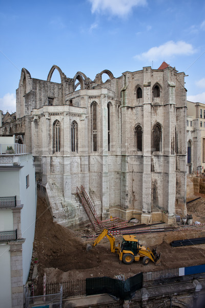 Carmo Convent in Lisbon Stock photo © rognar
