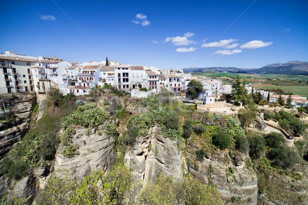öreg város Spanyolország Andalúzia óváros házak Stock fotó © rognar