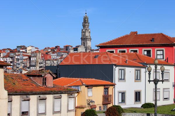 Stockfoto: Stad · Portugal · midden · gebouw · gebouwen