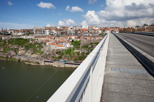 Stockfoto: Stadsgezicht · brug · stad · gebouwen · skyline · rivier