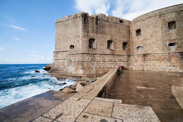 Dubrovnik erődítmény középkori falak öreg város Stock fotó © rognar