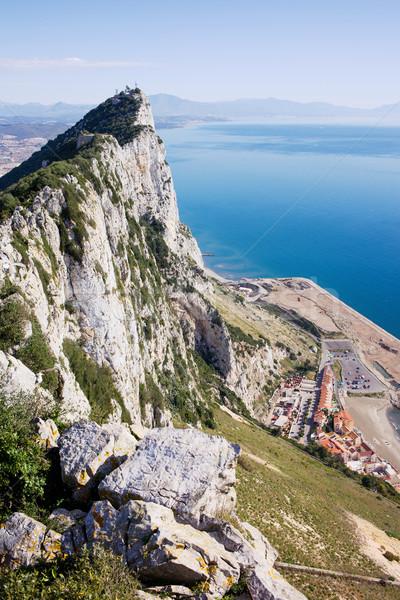 Gibraltar rock morze Śródziemne morza południowy niebo Zdjęcia stock © rognar