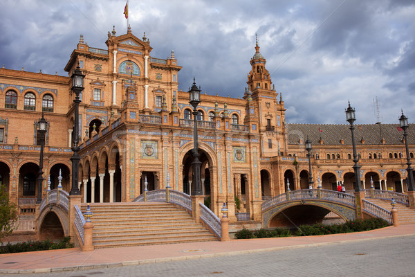 Plaza de Espana Pavilion in Seville Stock photo © rognar