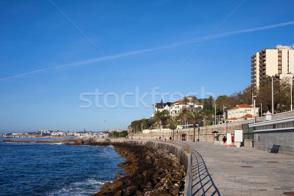 Promenade oceaan kust water landschap Stockfoto © rognar