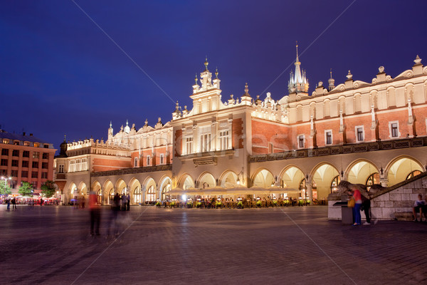 Cloth Hall in the Old Town of Krakow at Night Stock photo © rognar