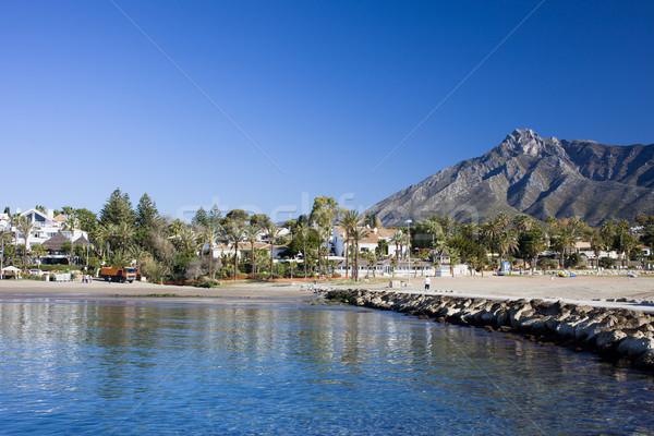 Stock fotó: Tengerpart · Spanyolország · homokos · tengerpart · nyári · szabadság · díszlet · mediterrán