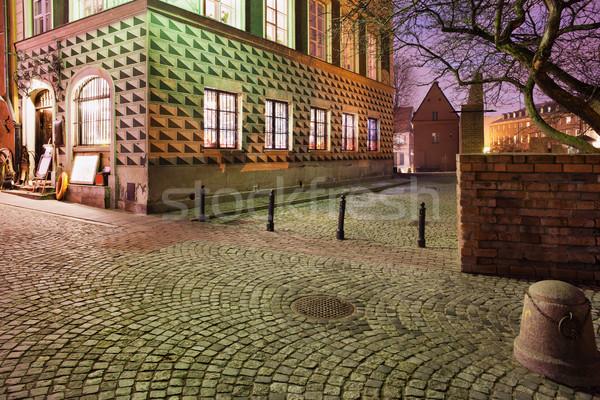 旧市街 1泊 ワルシャワ 通り 古い 家 ストックフォト © rognar