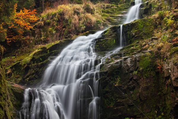 Kamienczyk Waterfall in Poland Stock photo © rognar