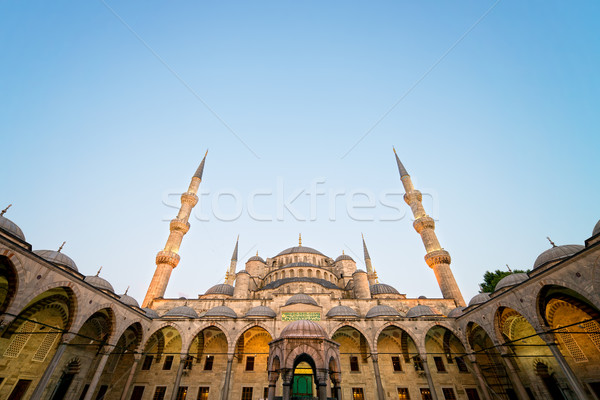 Blue Mosque at Evening Stock photo © rognar