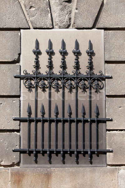 Wrought Iron Window Grille Stock photo © rognar