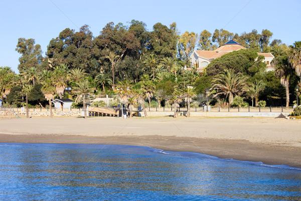 Stock fotó: Tengerpart · tenger · homokos · tengerpart · nyári · szabadság · díszlet · Spanyolország
