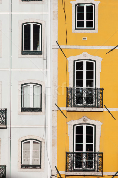 Row Houses with White and Yellow Facades Stock photo © rognar