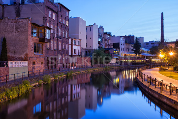 City of Bydgoszcz in the Evening Stock photo © rognar