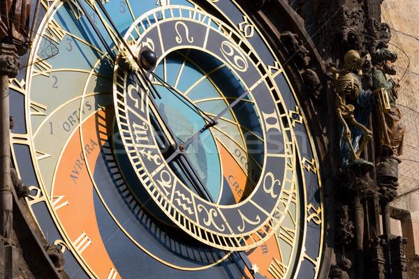 Sterrenkundig klok beroemd mijlpaal Praag Tsjechische Republiek Stockfoto © rognar