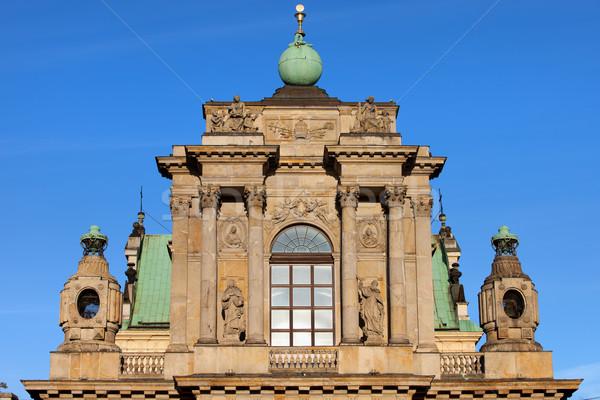 Kerk Warschau onderstelling maagd bouwkundig details Stockfoto © rognar