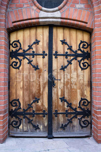 Antique Wooden Door Stock photo © rognar