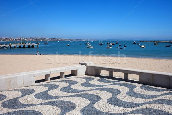 Passeio público Portugal praia oceano recorrer cidade Foto stock © rognar