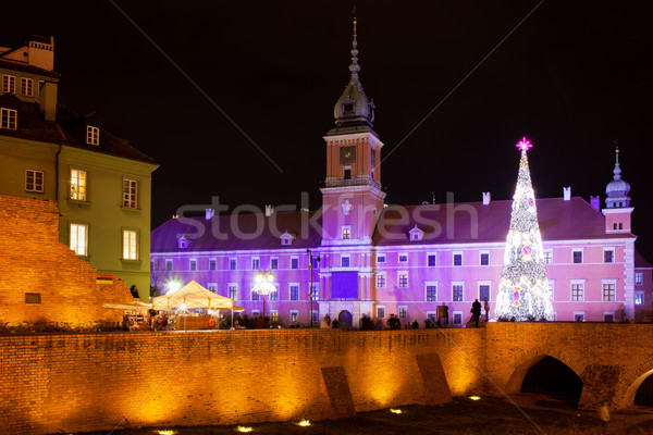 Royal Castle in Warsaw at Night Stock photo © rognar