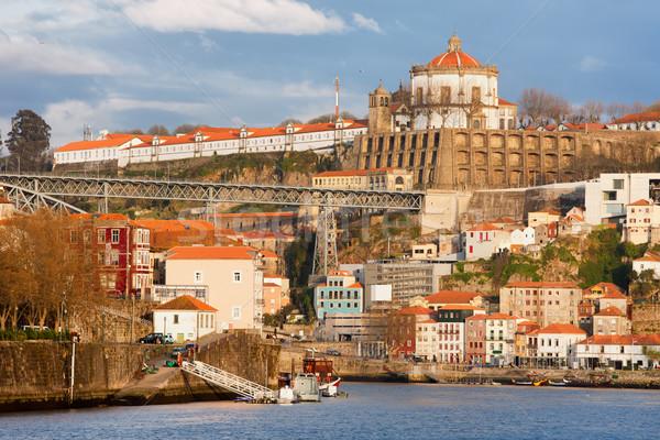 Portugal pitoresco velho cidade edifícios casas Foto stock © rognar