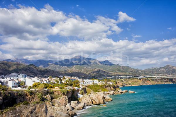 Stad kustlijn Spanje resort middellandse zee zee Stockfoto © rognar