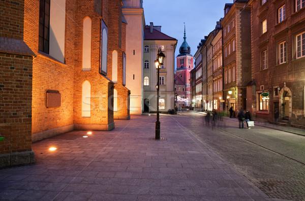 старый город ночь город мнение улице королевский Сток-фото © rognar
