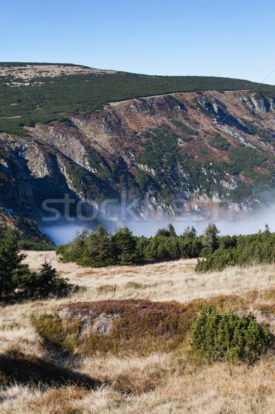 Montagna panorama Polonia Repubblica Ceca confine natura Foto d'archivio © rognar