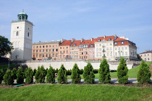 Варшава архитектура домах улице старый город Польша Сток-фото © rognar