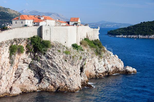 ドゥブロブニク 海岸線 古い 市 海 クロアチア ストックフォト © rognar