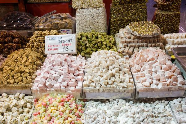 Turecki radość słodycze tradycyjny przyprawy rynku Zdjęcia stock © rognar