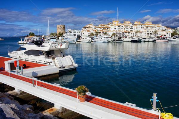 Marina Espagne sud andalousie région malaga Photo stock © rognar