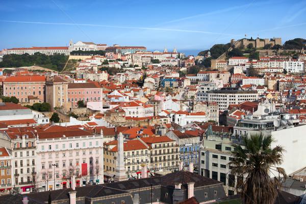 город Лиссабон Cityscape мнение старые Португалия Сток-фото © rognar