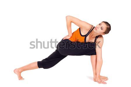 Woman Practicing Yoga Stock photo © rognar