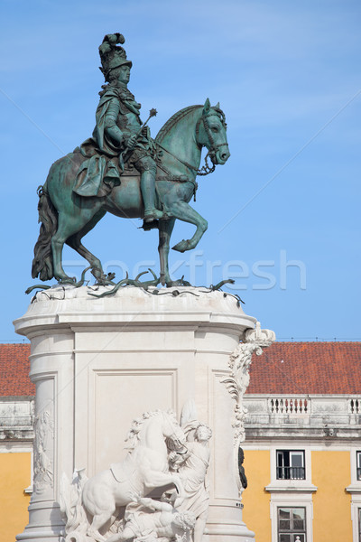 Statue of King Jose I in Lisbon Stock photo © rognar