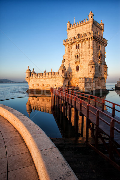 Belem Tower in Lisbon Stock photo © rognar