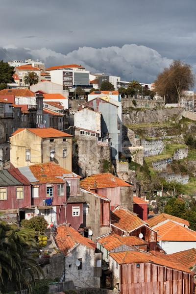 Stockfoto: Huizen · Portugal · stad · steil · gebouw