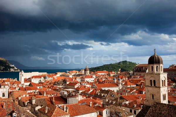 古い 市 ドゥブロブニク 海 クロアチア 家 ストックフォト © rognar